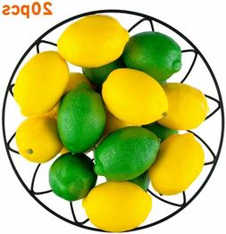 20 PCS Artificial Fake Fruit Lemons and Limes for Home Kitch