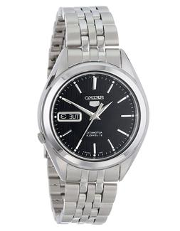 Seiko 5 SNKL23 Automatic Day-Date Black Dial Stainless Steel