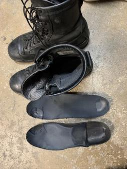 9.5 Military Navy Flight Deck Leather Boots Trashed Used Rip