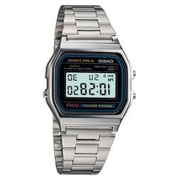 CASIO A158W-1 Unisex Classic Silver Digital A158 Sport Watch