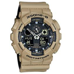 BRAND NEW CASIO G-SHOCK GA100L-8A ANA-DIGI SAND/BLACK MENS R