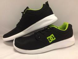 "DC Men's Shoes ""Midway M''--Black/Lime Ortholite comfort foa"
