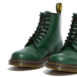 DR. MARTENS 1460 GREEN SMOOTH LEATHER BOOTS 11822207 SZ. MEN