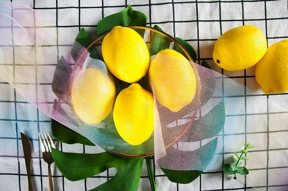 20 Yellow Artificial Lemons Fruit for Home Kitchen