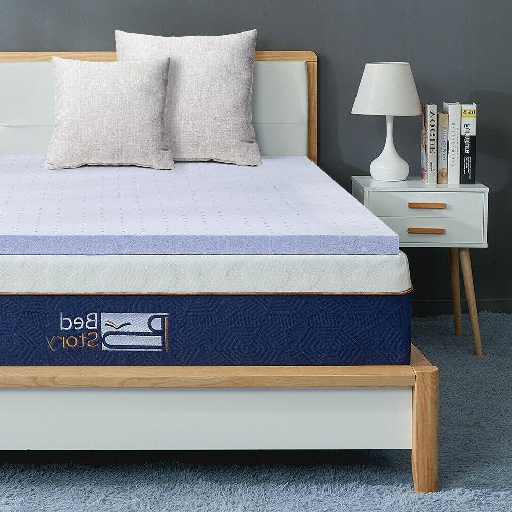 BedStory 2Inch Mattress QUEEN-size Infused Bedding