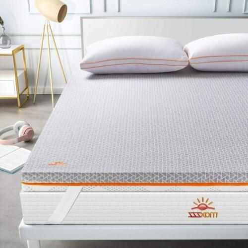 2inch topper mattress queen size gel infused