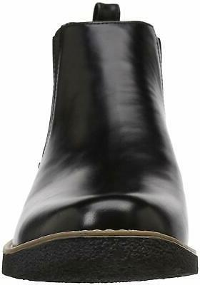 Deer Stags Mens Leather Closed Toe Black/Black, Size