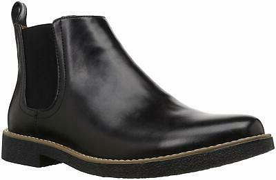 mens rockland leather closed toe ankle black
