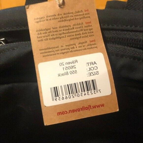 Fjallraven Raven 20 Backpack New Tags