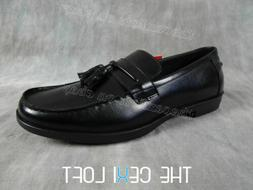 Mens DEER STAGS Black Dress Shoes BATES Loafer LEATHER Memor