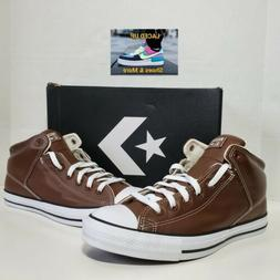 New CONVERSE Chuck Taylor Brown Leather Hi Top Athletic Snea