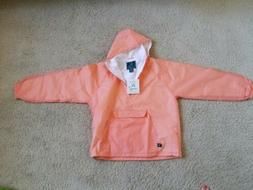 NWT Charles River Pullover Rain Jacket Women L Coral
