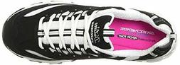 Skechers Sport Women's D'Lites Memory Foam Lace-up Sneaker,B